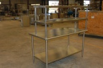 Table with Double Overshelf
