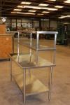 Table with Double Overshelf