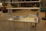 Work Table with Overshelf
