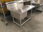 One Comp Sink with Cover